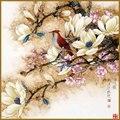 Bella flor y pájaro serie Taladro Completo Diamante bricolaje punto de Cruz Paiting Etiqueta de La Pared 5D Diamante Pintura Bordado de la flor
