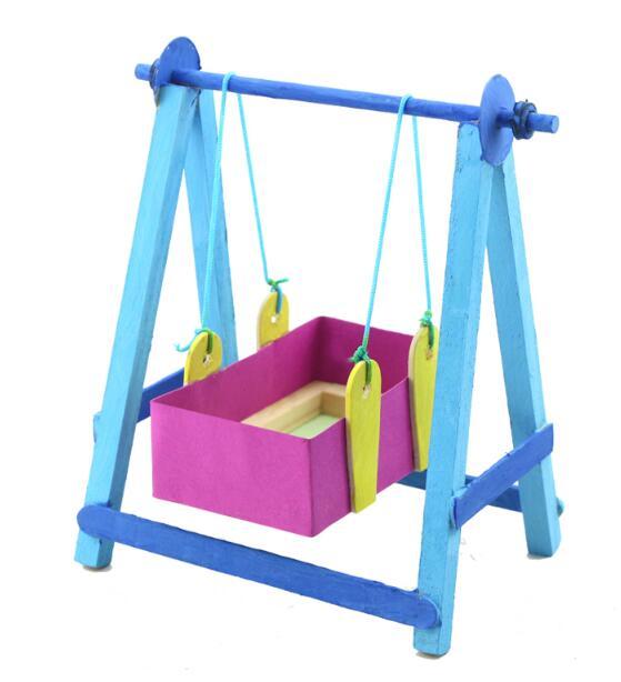 Diy Schaukelstuhl Wiege Bett Placarders Baby Diy Puzzle Spielzeug Holz Kinder Pädagogisches Spielzeug Online Shop