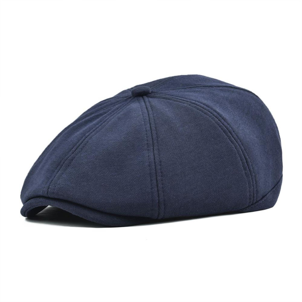VOBOOM Big Size Cotton Flat Cap Men Women 8 Panel Ivy Caps Retro Newsboy Caps Soft Breathable Cabbie Gatsby Ivy Hat 321