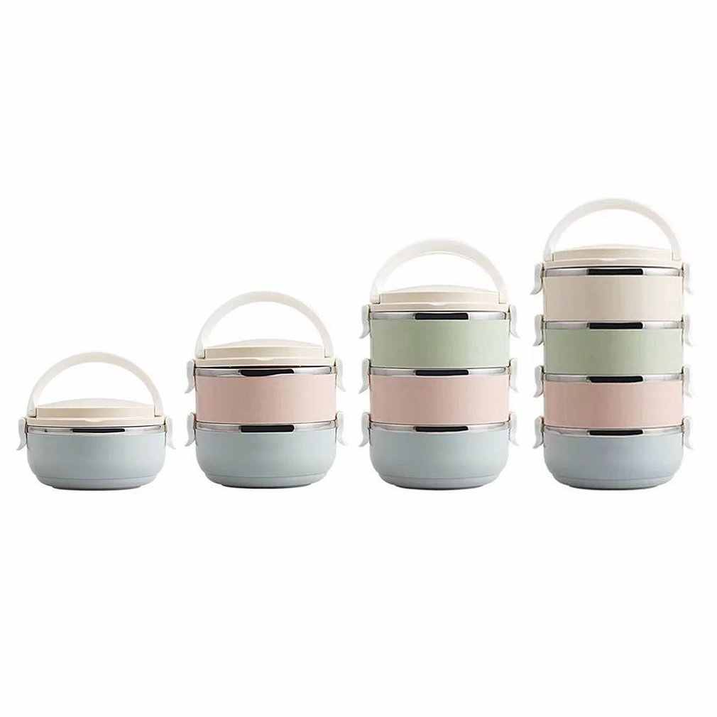 Tamanho compacto Home Office Aço Inoxidável Thermos Food Container Bento Box Lunch Box Térmica Lunch Box For Kids Portátil Piquenique