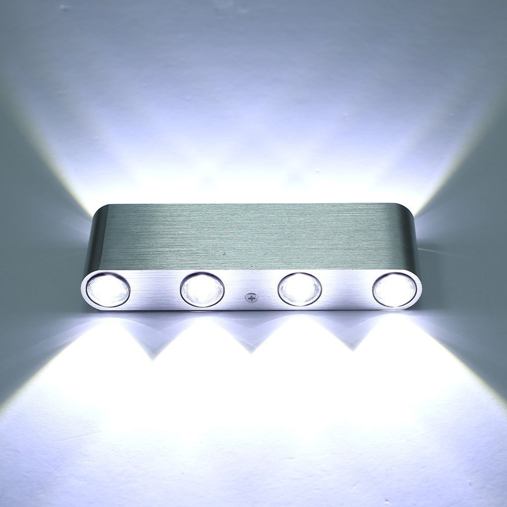 Bathroom Lighting Fixtures Up Or Down newly design modern rectangle wall light 85 265v 8w wall mounted