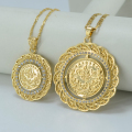 TWO SIZE /Turks Pendant Necklace Arab Coin for Women - Gold Plated Turkey Coin Jewelry Wholesale,Turk Coins Necklaces #009212