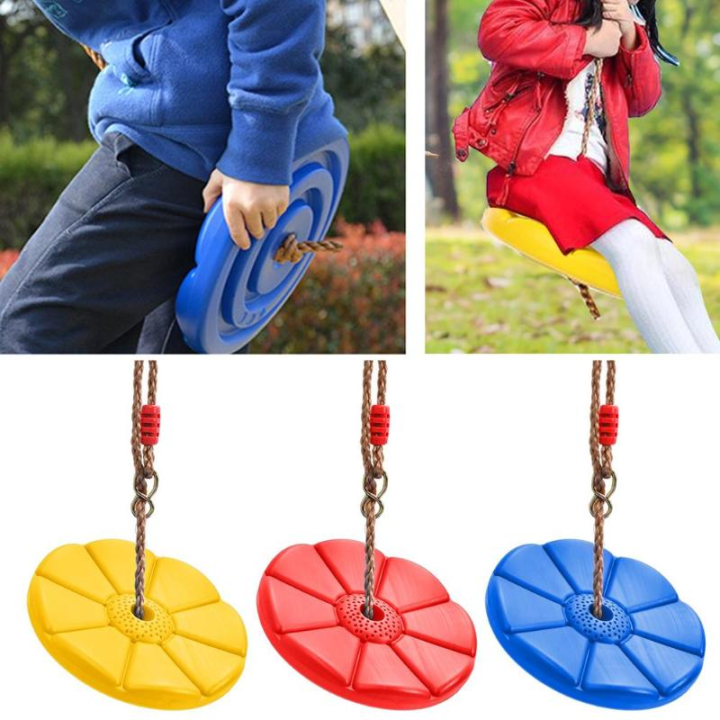 Kids Toys Outdoor Plastic Swing Disc Swing Indoor Swing Disc Climbing Swing For Children Garden Playground Camping Playing Toy