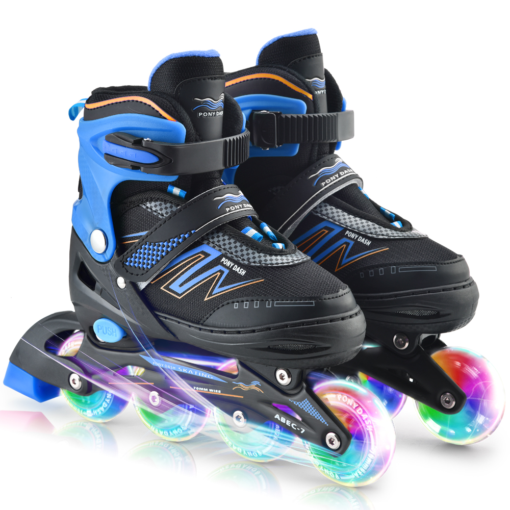 Inline Adjustable Skates Rollerblades Outdoor Sports Illuminating Wheels Roller Skates Shoes Children Tracer For Kids Boys Girls