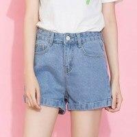 Blue Crimping Denim Shorts For Women 2017 Summer New Brand Trendy Loose Short Female Thin