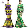 2017 Traditional African Clothing Print Dashiki Women Set 2 Piece Set Long Skirts and Tops Plus Size Maxi Dress WY1329