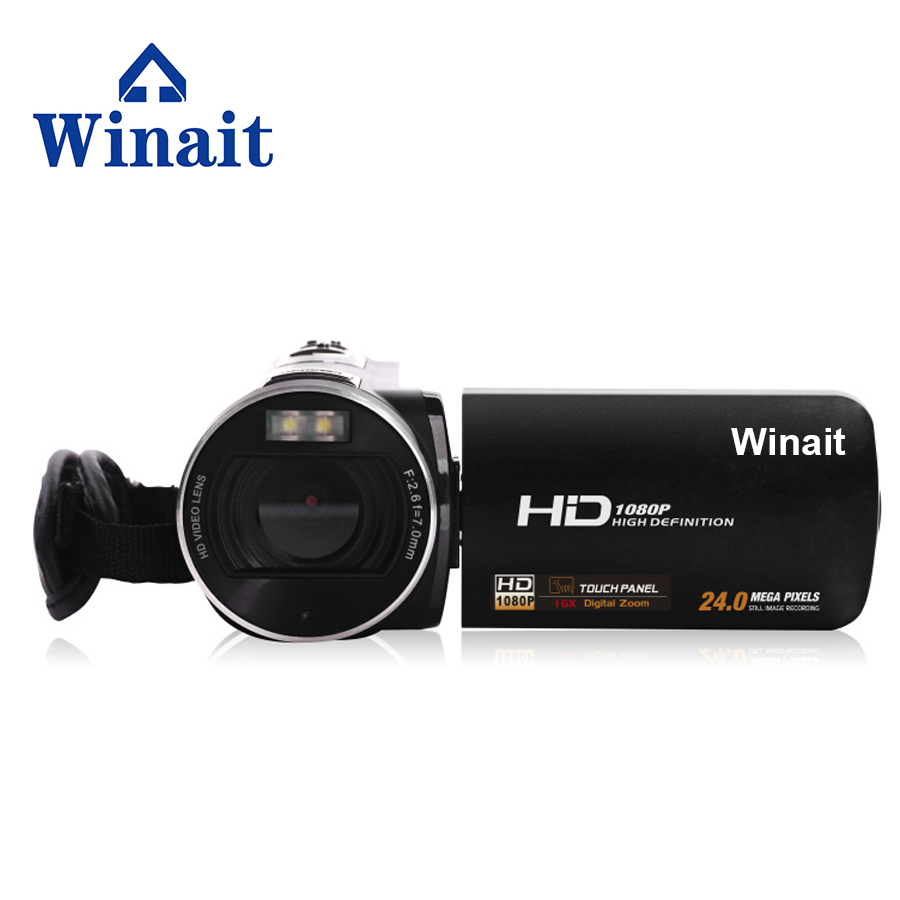 Winait 2017 hot sale HDV-Z8 digital video camera with 5.1mp cmos sensor 16x digital zoom Face Detection Continue Shot dc v100 15mp cmos digital camera w 5x optical zoom 4x digital zoom sd slot pink 2 7 tft