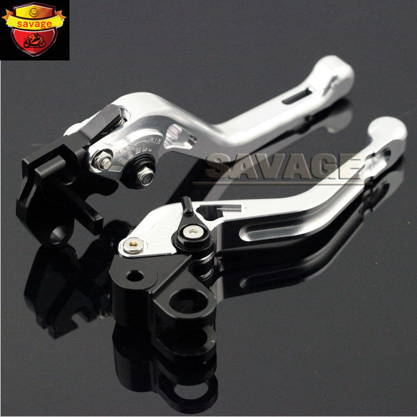 ФОТО For YAMAHA XJ600N XJ600S 1992-2000, XJ900S 1994-2000 Silver Motorcycle CNC Billet Aluminum Short Brake Clutch Levers