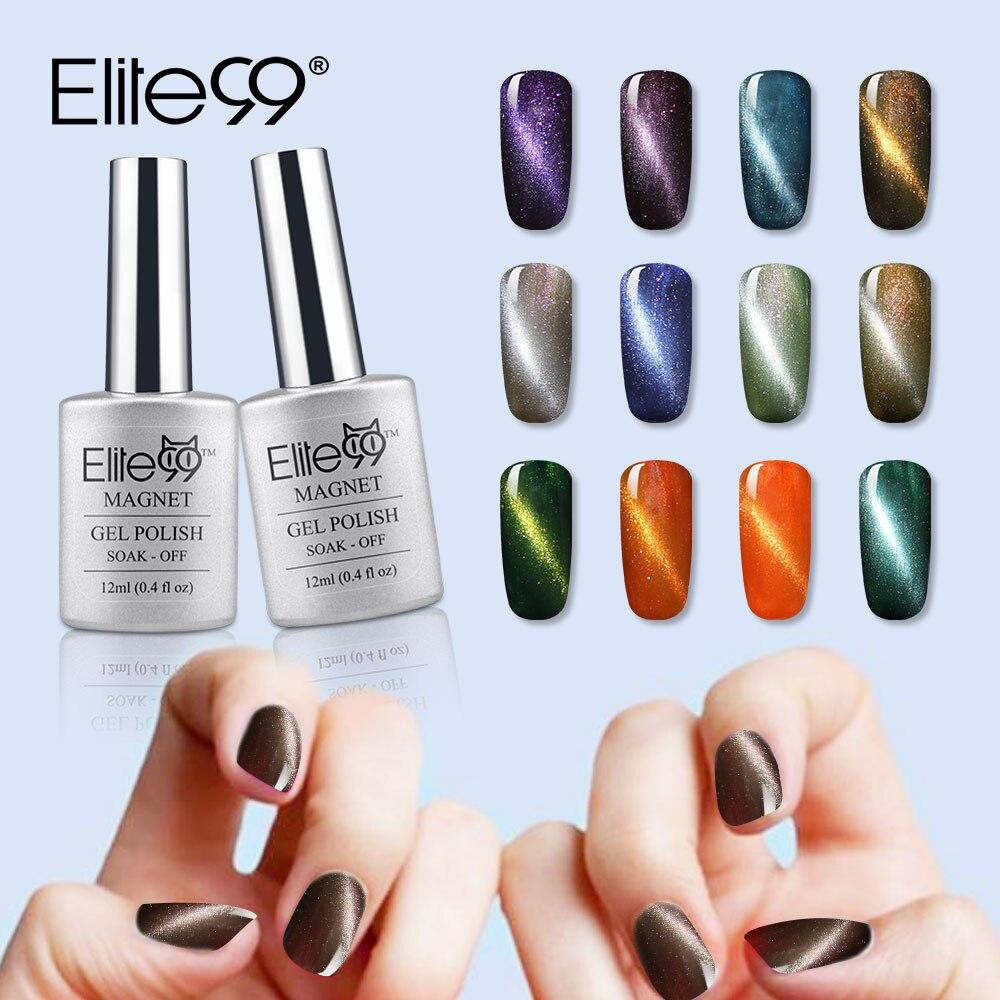 Elite99 Magnet UV Gel Varnish Color Magnetic Cat Eye Gel Nail Polish ...