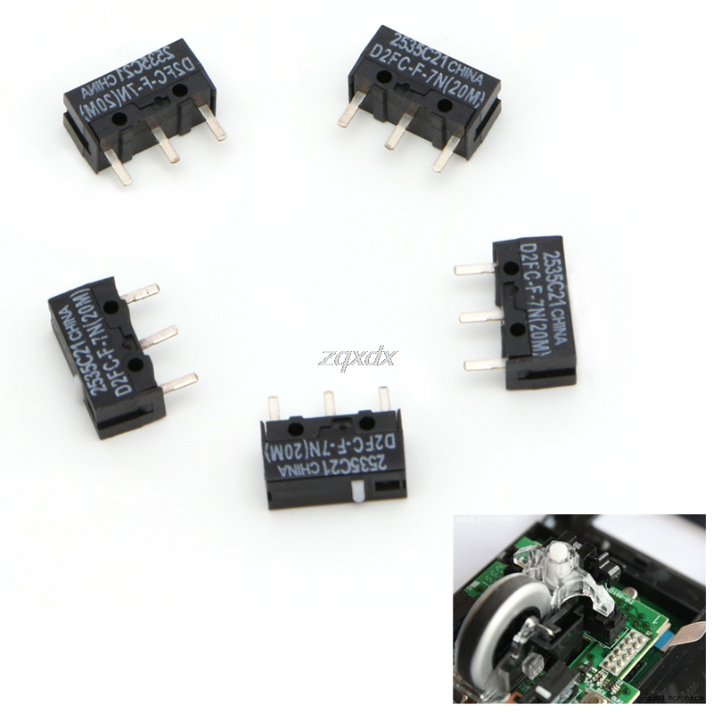 5Pcs 20M Micro Switch D2FC-F-7N For Mouse Replacement Substitute Tested Drop Ship
