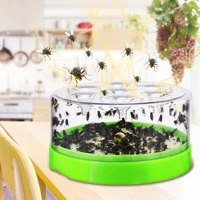 Automatic Fly Trap Catcher Plastic Device No Nelectric Insect Fly Catcher Trap Flies Pest Control Indoor Caught Fly Killer Flies|Traps| |  -