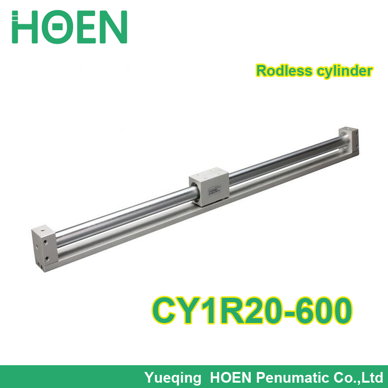 CY1R20-600 SMC type magnetically coupled Rodless cylinder 20mm bore 600mm stroke high pressure cylinder CY1R series CY1R20*600 cy1s 10mm bore air slide type cylinder pneumatic magnetically smc type compress air parts coupled rodless cylinder parts sanmin