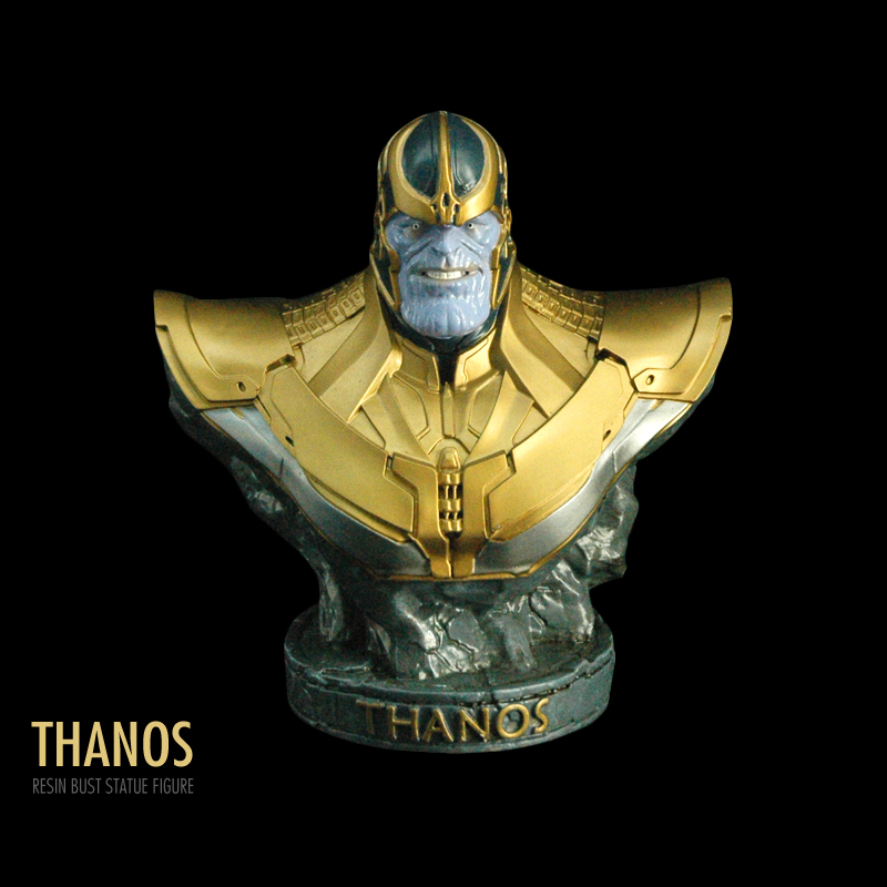 Pandadomik New Thanos Bust Statue Original Resin Toy Figure Model Avengers Toy Figurine infinity war Marvel Toys Gifts Decor Man marvel movie guardians of the galaxy 3 infinity war thanos iron man ant man black panther resin bust home decoration model