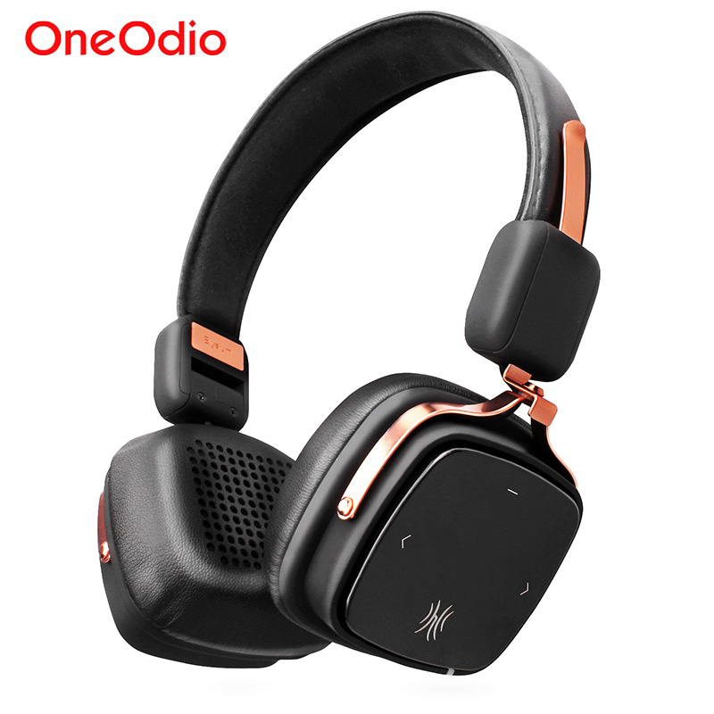 Oneodio Original Metal Bluetooth Headphones With Microphone Stereo Wireless Headset Foldable Bass Wireless Headphone For Music picun p1 headphones bluetooth version 4 0 wireless headset shocking bass headphone with microphone handsfree calls