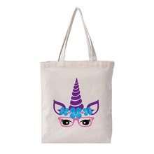 Unicorn Print Tote Bag 12oz Canvas Thick Tote Lady Canvas Market Bag for Studend Birthday Gifts New Style canvas ethnic print tote bag