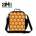 Dispalang Unisex Thermal Lunch Bag Smiley Emoji Face Print Lunch Box for Kids Fashion Lunch Cooler Bag For Men Work Meal Package