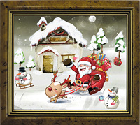 New Year 5D Diamond Embroidery Christmas Diy Diamond Painting Kit Santa Claus Rhinestone Cross Stitch Diamond
