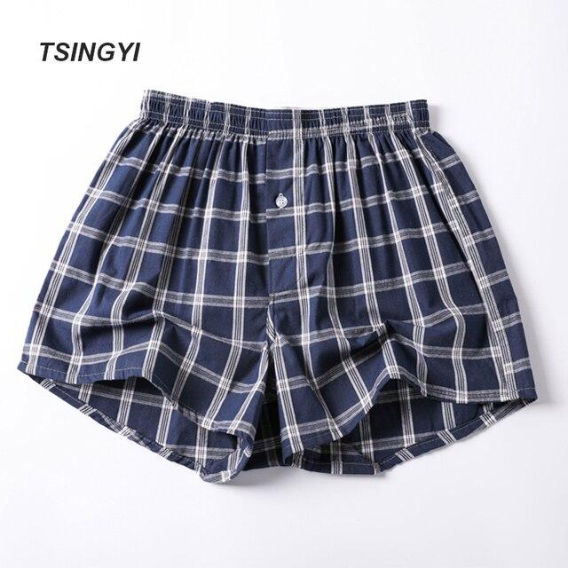 TSINGYI плед Для мужчин s пижамы 100% хлопок шорты удобные спальные пижамы дома ночное плед Для мужчин сна халат Homme