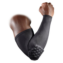 Elastic Arm Warmers Sport Basketball Arm Sleeve Shooting Crashproof Honeycomb Support Pads Elbow Protector Guard Sport Safety A