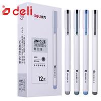 Deli 12 pçs bonito kawaii gel canetas 0.5mm preto gel tinta caneta para estudante escrita papelaria gel caneta 4 cores escola & escritório suprimentos|Canetas de gel| |  -