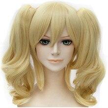 Feibin Cosplay Harley Wigs Synthetic Wavy Blonde Hair Free Shipping