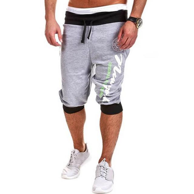 2017 Verão Novo Marca Calça Casual Homens Roupas de Estilo Coreano Calças Plus Size Impresso Algodão Pantalon Homme