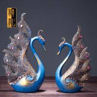 Auspicious gift swan sitting room home furnishing articles European household decorations bride wedding gift wine TV ark