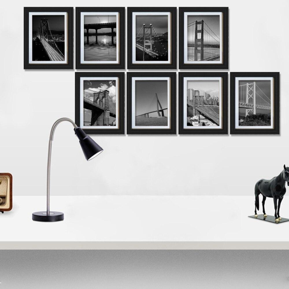8 Uds. Giftgarden 5x7 pulgadas marco fotográfico Negro Set para decoración de paredes, decoración del hogar, accesorios, cubierta de PVC F450 450 Quadcopter de MultiCopter kit de marco de APM 2,8 w/amortiguador 7M ALIMENTACIÓN DE GPS módulo 2212 Motor 30A ala fija CES