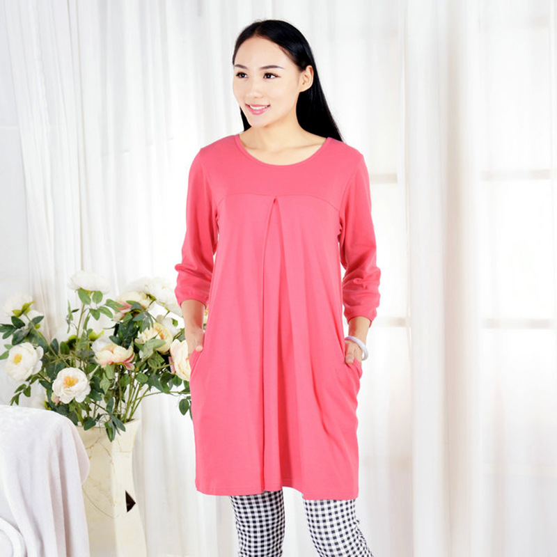 Top quality Long sleeved Maternity Dresses nursing dress Pregnancy Dresses Premama Maternite clothing for pregnant women