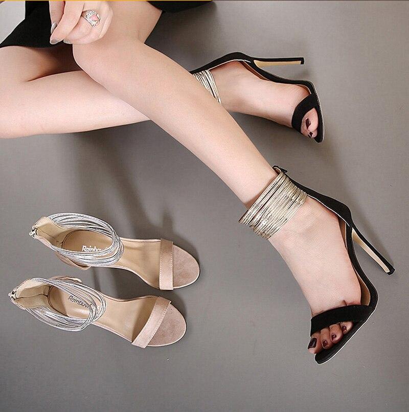 Brillante Davanti Caviglia Sottile Scarpe Donna Estate Aperte CSqwT