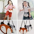 2016 cute child cartoon fox modeling baby animal print children girl clothing accessories bag