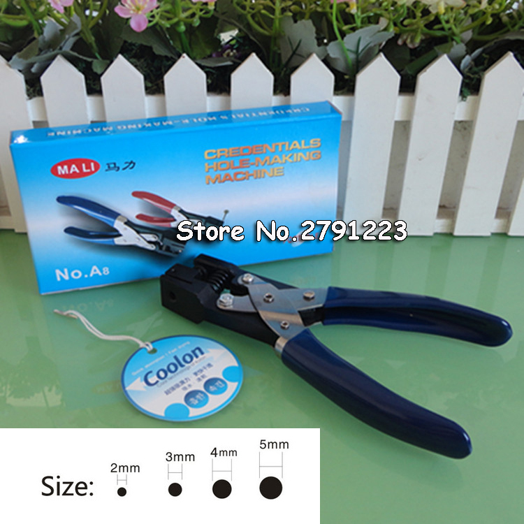 PVC card paper round hole punch puncher slot punch,hole size 2mm 3mm ...