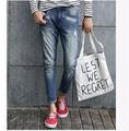 2015 Осенний британский стиль Простой Уникальный дизайн отбортованные джинсы мужские Повседневные тонкие отбортованные мужские джинсы Лоскутные Брюки xy202
