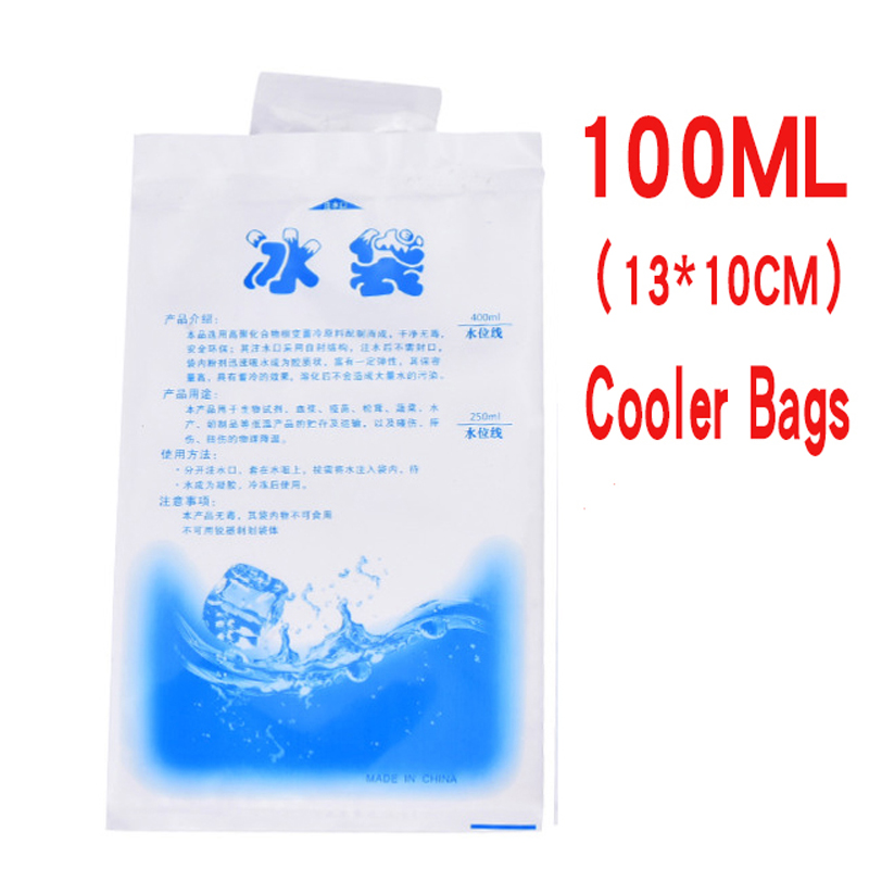 10pcs/lot Reusable Gel Ice Bag Insulated Dry Cold Ice Pack Gel Cooler Bag for Food Fresh Food Ice Bag Bolsa Termica image