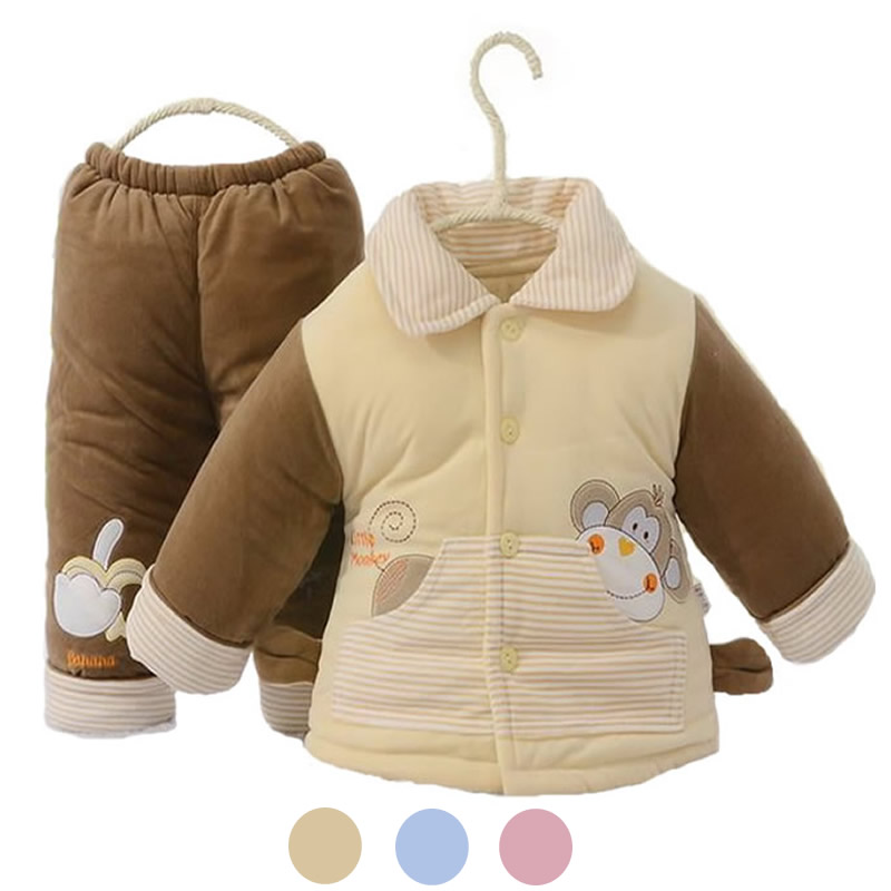 2015 Hot cotton padded baby clothing set newborn baby clothes cartoon monkey baby boy clothes infant baby girl clothes set TZ26 9 12m baby boy set monkey print clothes for children newborn baby boy clothing corduroy 2017 autumn clothes 2pcs boy outwears