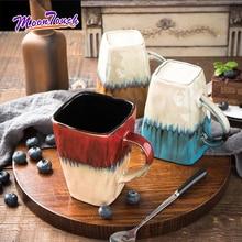 Creative Ceramic Coffee Cup Milk Mug European Retro Style Marble Pattern Home Use for Children Drinkware Accessories
