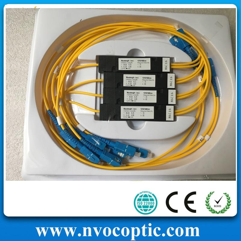 1X2,SM,1310/1490/1550nm,50/50,SC/UPC,Cable Dia:2.0mm,L:1M,ABS Pacakge:90*20*10mm,1*2 FBT Fiber Optic Coupler/Splitter