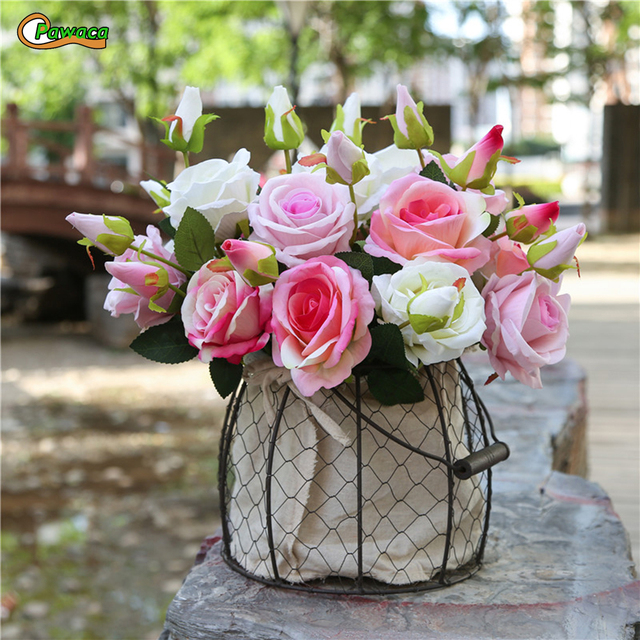 8 Colors Single Bouquet High Quality Silk Flower European Artificial