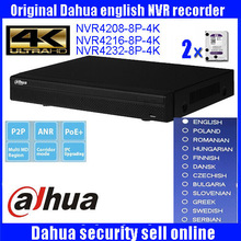 Original ENGLISH version 4K NVR 8ch 16 ch 1U Network Video Recorder NVR4208-8P-4K NVR4216-8P-4K 4232-8P-4K with 8 PoE ports