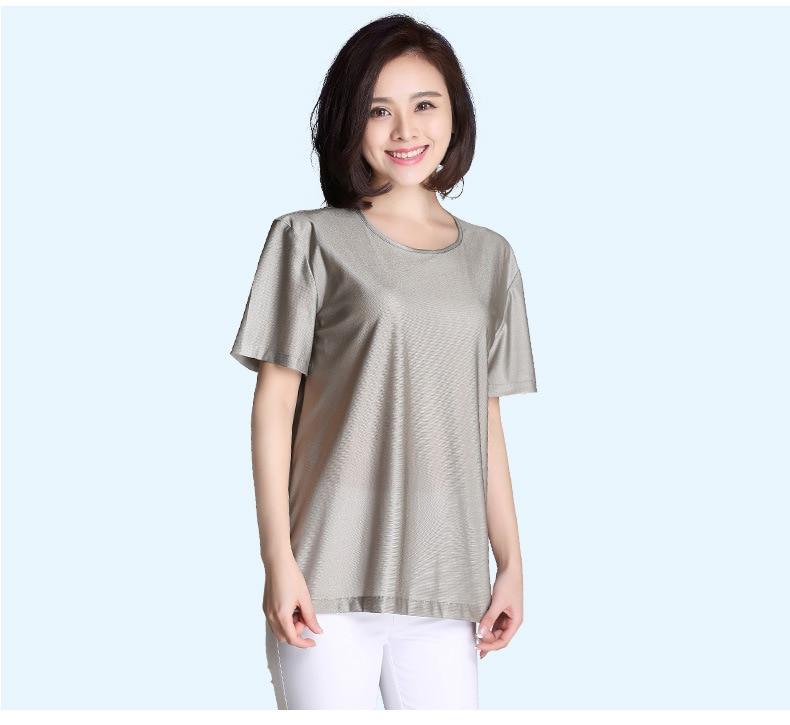 100% T-shirt Anti-rayonnement déodorant en Fiber d'argent, protection de la santé en Fiber d'argent pour homme T-shirt.EMF mise à l'abri. stérilisation.