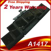 HSW A1417 Laptop Battery for APPLE MacBook pro A1398 MC975 MC976 for MacBook Pro 15 in laptop battery 8460mAh for macbook prO