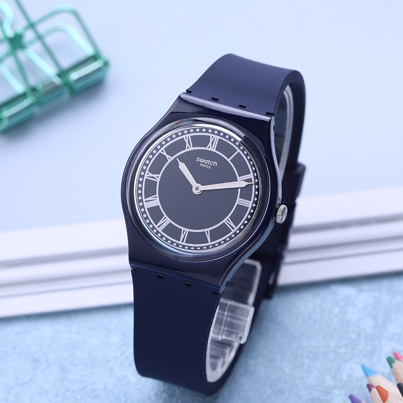 Swatch Watch Classic Color Code Series Blue Neutral Quartz Watch GN254 swatch swatch watch jelly timing series multi function chronograph quartz watch susb412