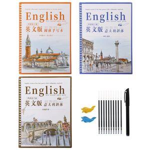 3 многоразовые Groove каллиграфия авторская книга английский Курсив почерк Groove обучение ручка заправки набор инструментов