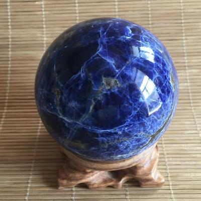 New Arrival Natural Blue Sodalite Sphere Quartz Crystal Sphere Carving Gem Stone Ball healing