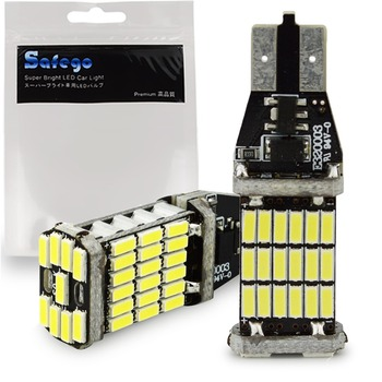 цена на 2pcs Safego T15 45 SMD 921 912 T10 4014 LED Bulbs Canbus Error Free For Car Backup Reverse Lights 1000 Lumens 6500k White