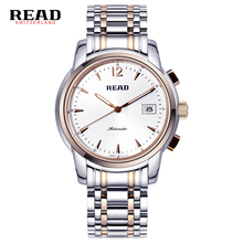 READ Top brand luxury Men s mechanical watches full steel Men s business waterproof watch relogio