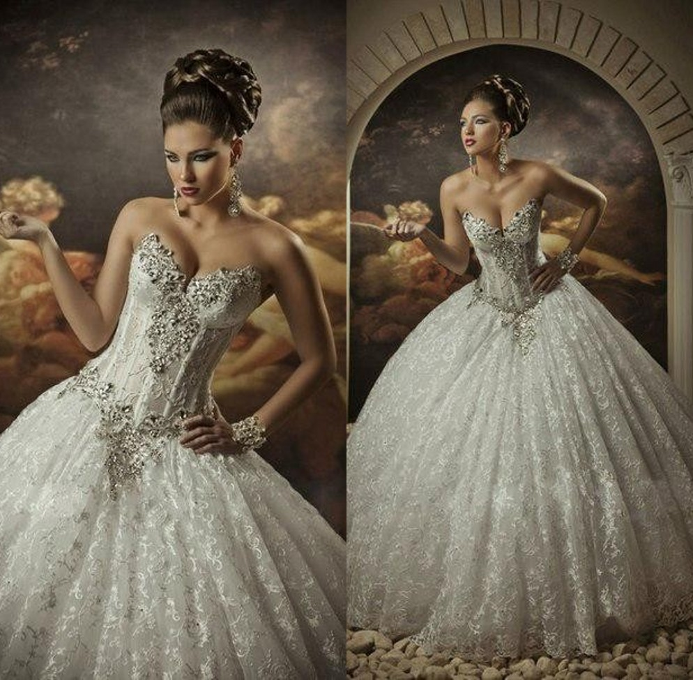 Ball Gown Wedding Dresses With Bling And Corset Crystal Dress Buy Cheap
