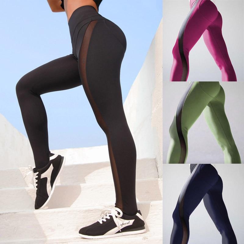 Black Mesh Leggings Transparent Sexy Women Push Up Leggins High Waist Pants Female Fitness Fashion Activewear Summer Clothes