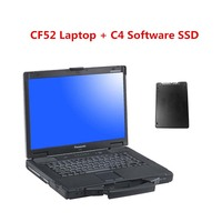 Used Panasonic CF 52 CF52 CF 52 Military Toughbook Diagnosis Laptop with mb star c4 software HHTWIN/EPC/WIS/EWA/VEDIAMO/DTS
