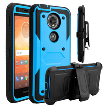 For Motorola Moto E5 Plus / Moto E5 Supra Case Heavy Duty Hybrid Rugged Case With Belt Clip Holster Shockproof Protective Cover waterproof rugged mobile device protection holster case with clip